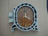 Mazda rotary engine shop clock. This clock was