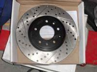 front two rotors stop tech brand new brake rotors tex