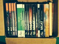 Full set of Kaplan and Princeton Review MCAT books.