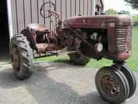 Mccormick Farmall B in original condition runs perfect.