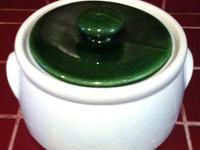 McCOY 1421 CASSEROLE BAKING DISH/BOWL W/HANDLES & GREEN