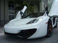 2012 McLaren MP4-12C WHITE WITH BLACK INTERIOR, CARBON