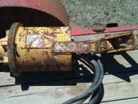 "McM hydraulic auger with 12"" bit used on Backhoe. Could"