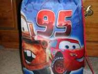 Children's McQueen, Mater, and Doc Hudson sleeping bag.