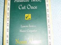 This is a First Edition 1996 Of Norm Abram's book with
