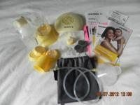 New pump, I only used it 3 times. I got the Medela Pump