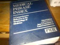 Medical Phrase Index ... very valuable reference for