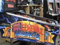 We are releasing for sale a Middle ages Madness pinball