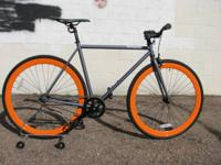 THE PAPA: MATTE GREY FRAME WITH DOUBLE-ORANGE DEEP DISH
