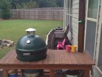 For sale is a used 3 years of age Medium Big Green Egg