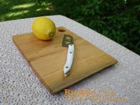 Medium Cutting Board -Black Cherry- Natural Handcrafted