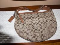 COACH No A0882-11858 Retail $200 Tan and Brown Canvas
