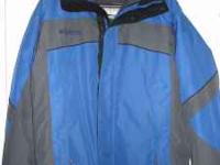 Men's medium Columbia parka with removable zip in