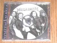 Megadeth Youthanasia CD. Can be contacted at . Leave