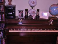 USED MEHLIN & SONS PIANO FOR SALE. 88 KEYS WITH TWO