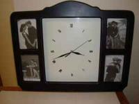 MELANNCO BATTERY OPERATED CLOCK WITH 4 PHOTO