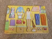 Like new Girl puzzle it's magnet... Melissa and Doug