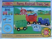 Gently Used Melissa & Doug Wooden Farm Animal Train