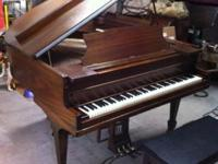 Mahogany with bench excellent sound and condition tuned