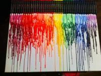 Melted crayon art. this is a very cool and unique
