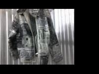 Description Members Property Leather jacket(Color: Gray