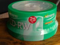 Memorex CR-RW, Rewritable, 4X, 700MB/80Min, Branded, 25