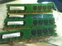 Memory DDR2, 4 1gb sticks..pc5300, 667mhz, call