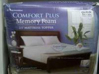"Queen size Comfort Plus 2.5"" memory foam mattress"