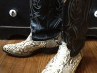 Excellent pair of used snakeskin cowboy boots. New
