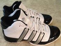 Men's black, white & grey ADIDAS tennis shoes in great