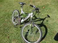 This is a Triax PK7 mountain bike. It needs some TLC.