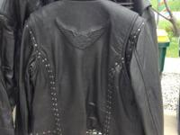 Men's XL Leather Harley davidson Jacket and Female's