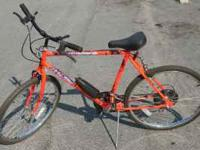 "This is a Huffy men's bike. It has 26"" wheels. In good"