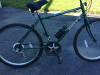 "Huffy North West men's bike,15 speed index, 26"" wheel."