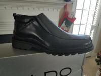 New Men's Black Dress Up Shoes Size 7. Never worn.