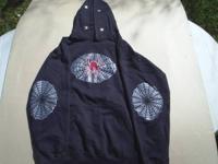 Black Pullover Hoodie Sweatshirt Men's Size: M 38/40