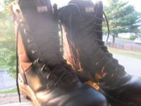 Black Magnum Boots size 10.5 in great condition,
