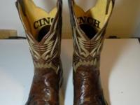 Men's Cinch Cowboy Boot, Goat, Burnished Chestnut Top,