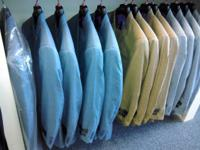 We have mens suits, ties, shirts, pants, hats, shoes