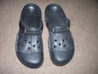 Black mens Crocs with velcro strap. Size 12. Asking $15