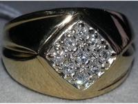 In stunning condition !! Men's 10kt yellow gold and