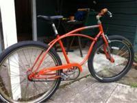Jamis Earth Cruiser. 80's Men's 3 speed orange cruiser.