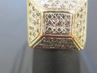 ATTRACTIVE GUYS'S STYLE SQUARE DESIGN RING- 14KT, 14.20