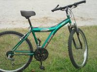 Nice Mountain Bike in Forest Green color 18 speed,