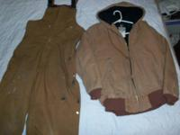 Cold weather coveralls and jacket for sale.  Jacket is