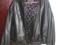 Men's Knightsbridge Leather Jacket - Size L (like new)