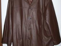 Men's LEATHER COAT, SIZE LARGE REDUCED! HABAND