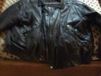 Men's black leather, size 2 xl $40.00 looks brand-new
