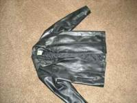 Very nice Men's XL black leather jacket. Original price
