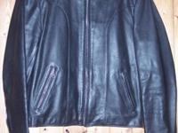 FOR SALE: BERMAN'S MEN'S LEATHER MOTORCYCLE JACKET SIZE